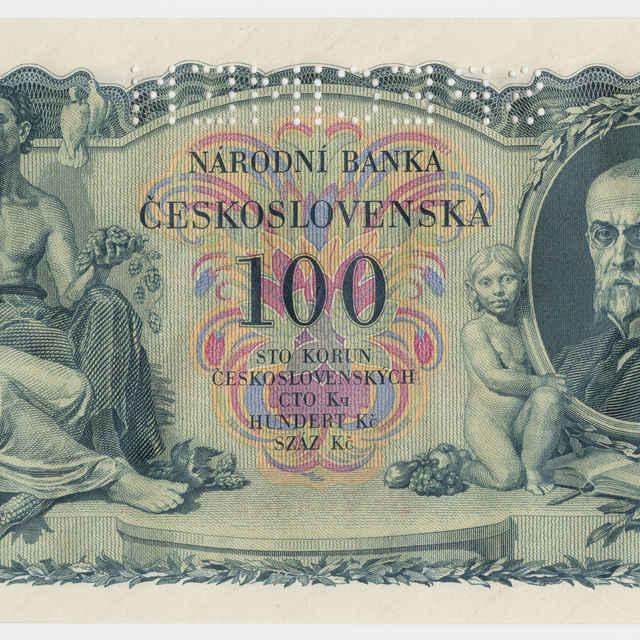Bankovka česko-slovenská v nominálnej hodnote 100 korún (1931)