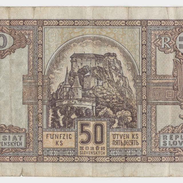 Bankovka Slovenskej republiky 1939-1945 v nominálnej hodnote 50 korún (1940)