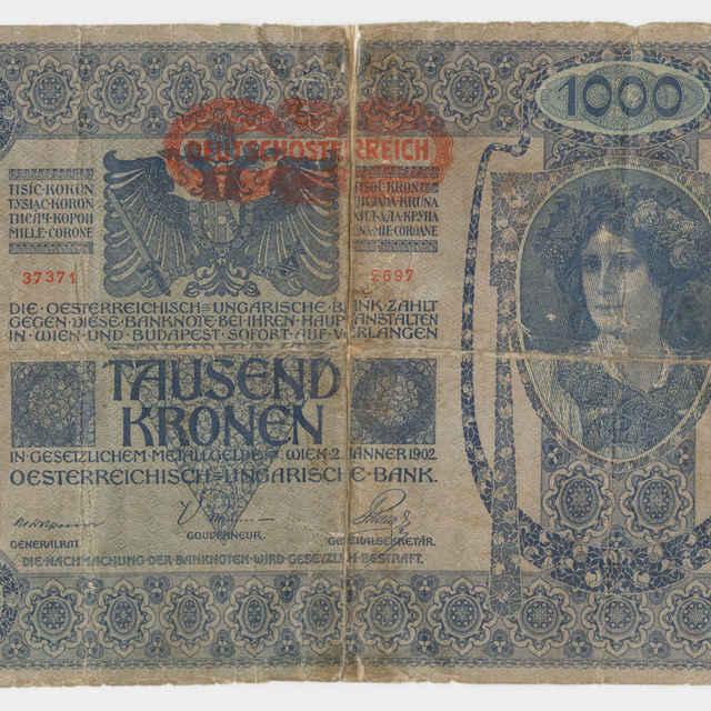 Bankovka rakúsko-uhorská v nominálnej hodnote 1000 korún (1902)