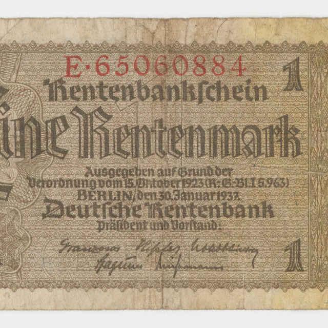 Bankovka ríšska v nominálnej hodnote 1 marka (1937)