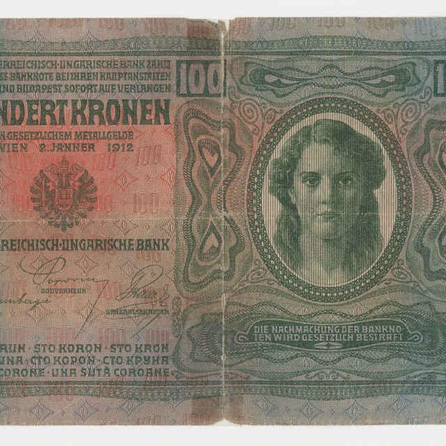Bankovka rakúsko-uhorská v nominálnej hodnote 100 korún (1912)