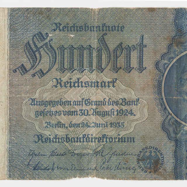 Bankovka ríšska v nominálnej hodnote 100 mariek (1935)