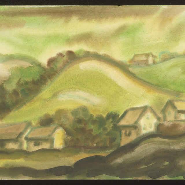 Na kraji Banskej Štiavnice (kresba)