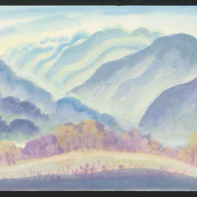 Suchá zima v Jánskej doline (kresba)
