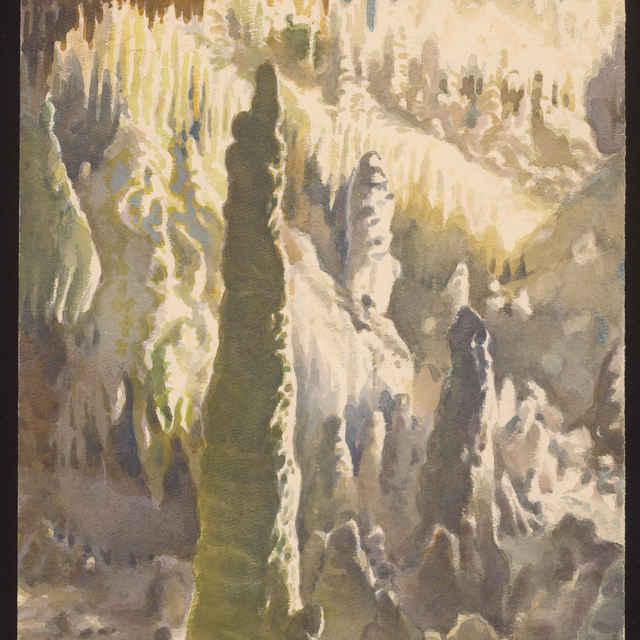 Demänovská jaskyňa slobody (akvarel) - Holeček, Stanislav
