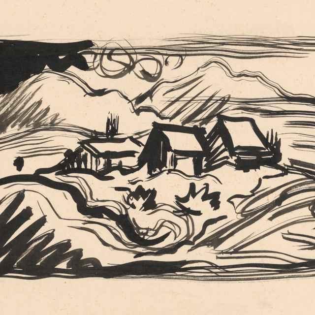 Krajina s chalupami - Weisz-Kubínčan, Arnold Peter