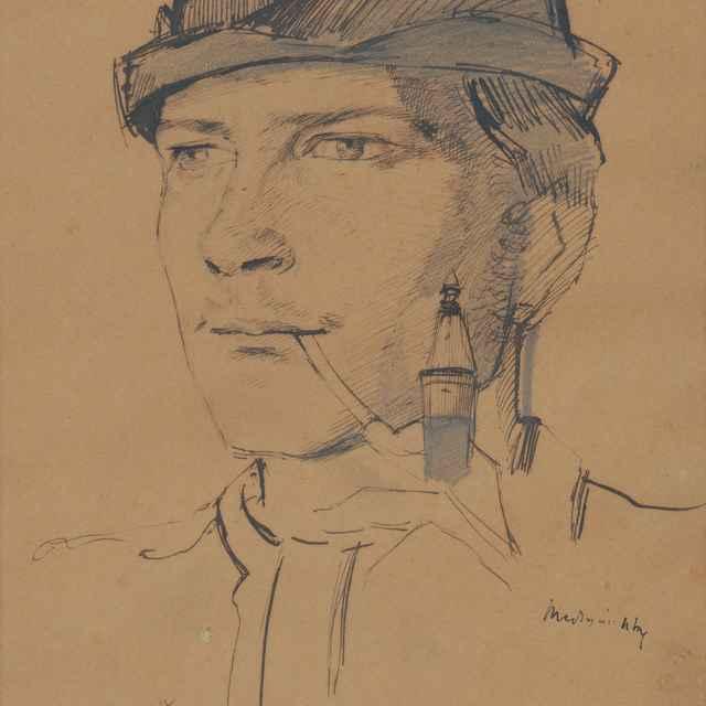 Portrét mládenca s fajkou - Mednyánszky, Ladislav