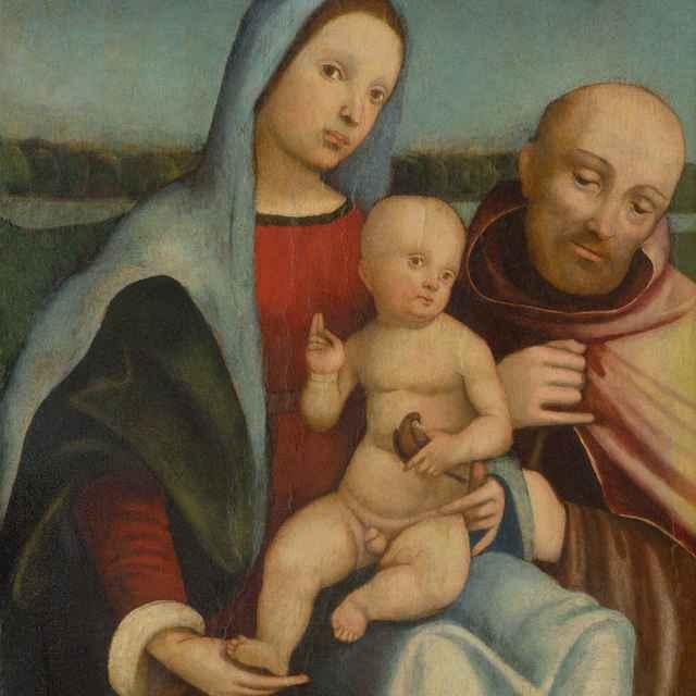 Madona s dieťaťom a svätým Františkom z Assisi - Francia, Francesco