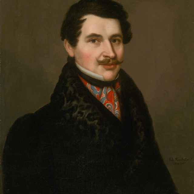 0ef8fee12 Portrét muža v kožušinovom golieri - Rombauer, Ján