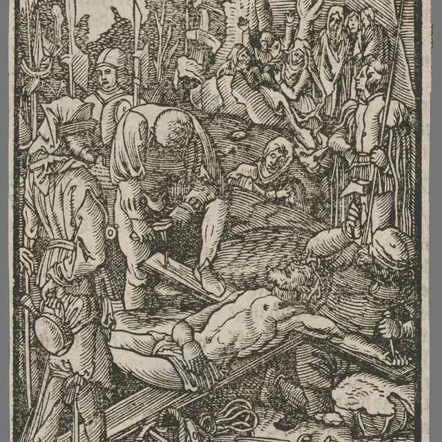 Pribíjanie Krista na kríž - Salis, Carlo