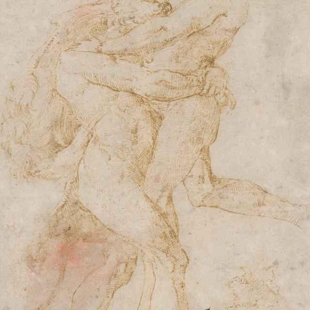 Zápas atlantov - Taliansky majster z 1. polovice 16. storočia