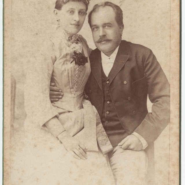 Fotografia Dr. Vojtecha Alexandra s manželkou - Divald Karol ml.