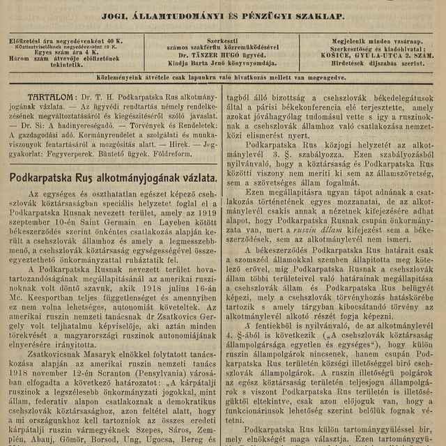 Csehszlovák jog