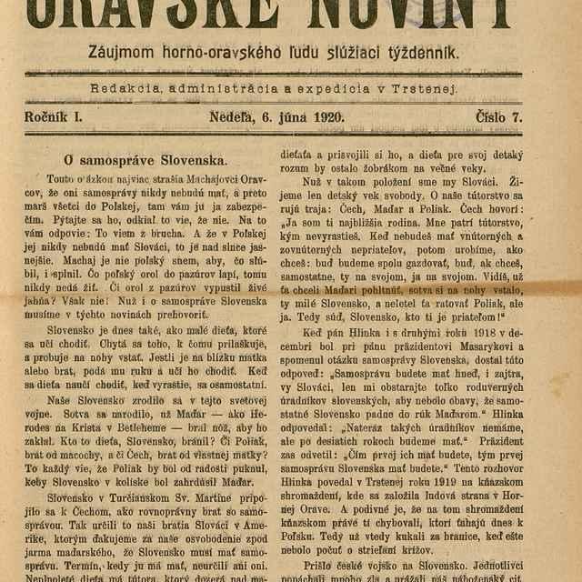 Oravské noviny