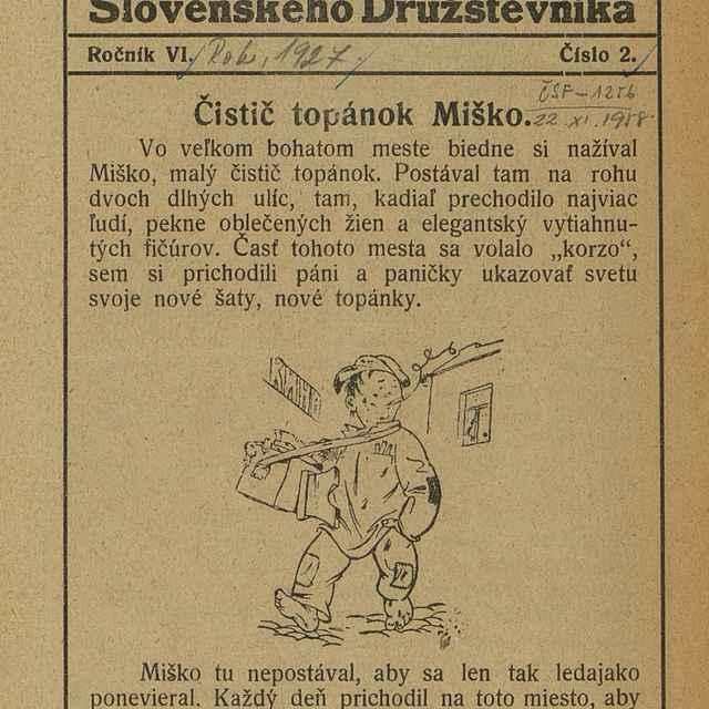 Detský kútik Slovenského družstevníka