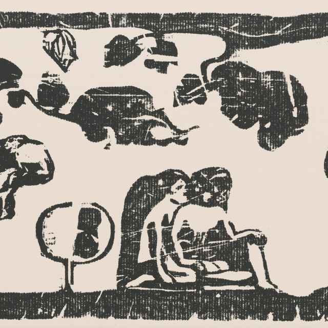 Ženy, zvieratá a lístie - Gauguin, Paul