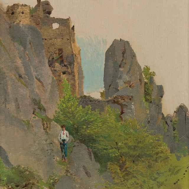 Pohľad na Súľovské ruiny - Mednyánszky, Ladislav