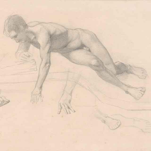 Mužský akt v pohybe - Katona, Ferdinand