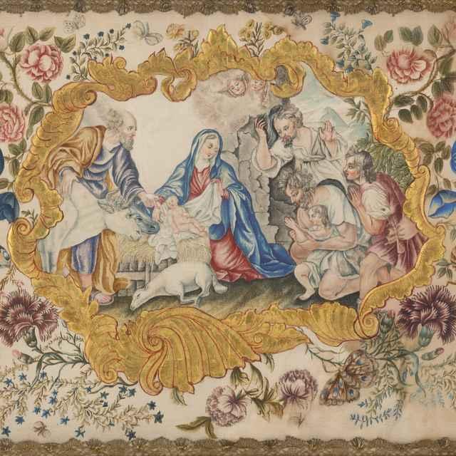 Klaňanie pastierov - Slovenský maliar z 18. storočia