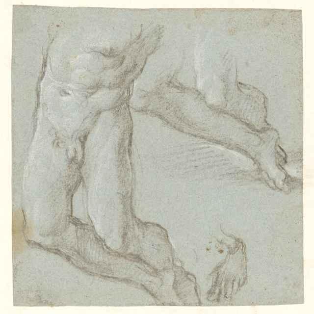 Štúdia mužského aktu - Torzo - Stredoeurópsky maliar zo 17. storočia