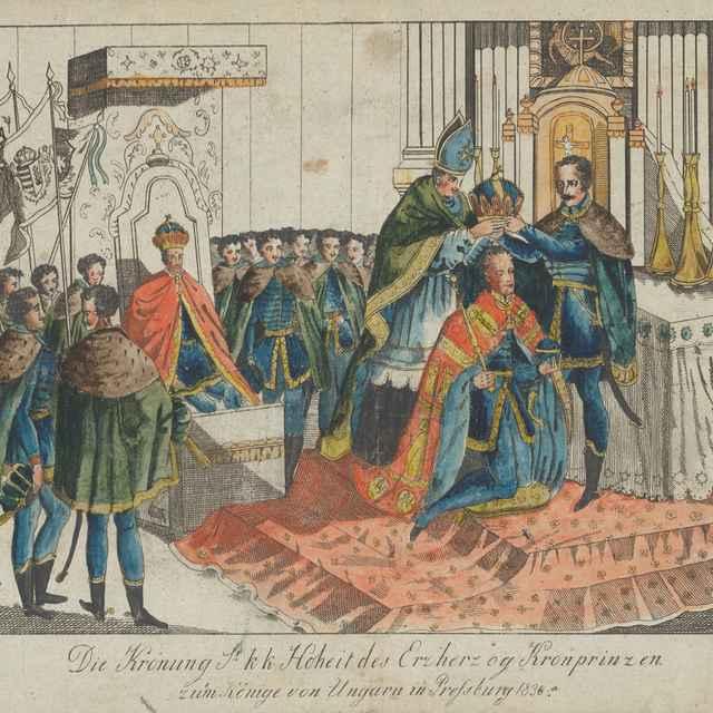 Korunovácia korunného princa v Bratislave - Neznámy autor