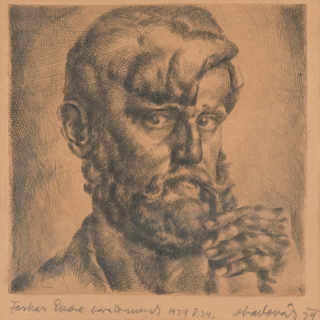 Autoportrét - Aba-Novák, Vilmos