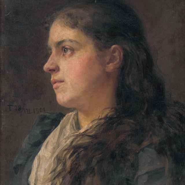 Podobizeň umelcovej manželky - Hanula, Jozef