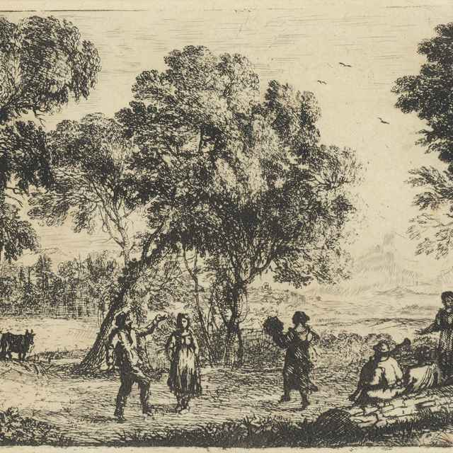 Tanec pod stromami - Lorrain, Claude