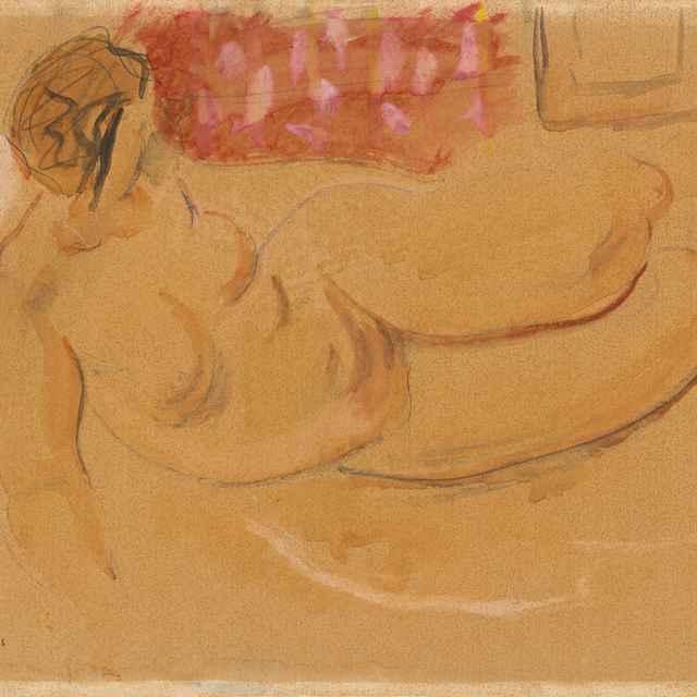 Ležiaci ženský akt - Majerník, Cyprián