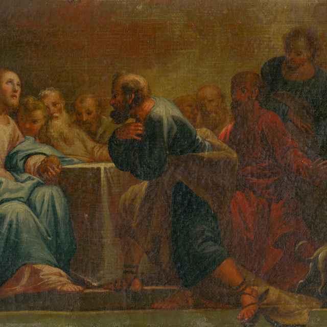 Posledná večera - Stredoeurópsky maliar z konca 18. storočia