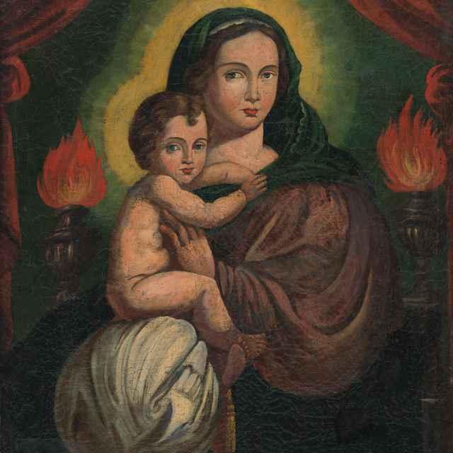 Madona s dieťaťom - Neznámy autor