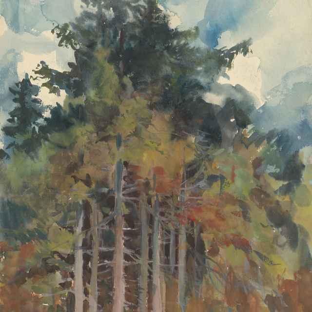 V lese na jeseň - Palugyay, Zolo - Výtvarné umenie