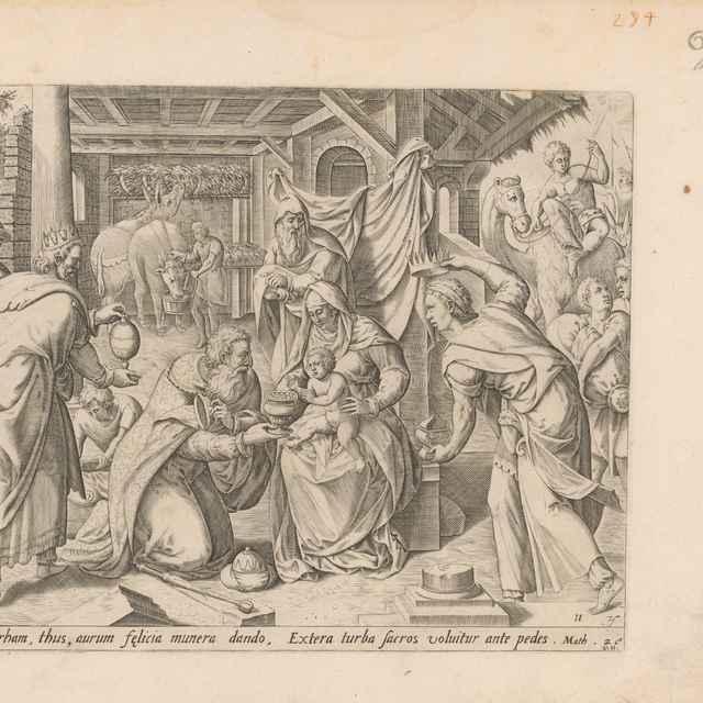 Klaňanie Troch kráľov - Visscher, Claes Jansz.