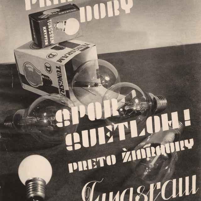 Reklama na žiarovky Tungsram - Dohnány, Miloš