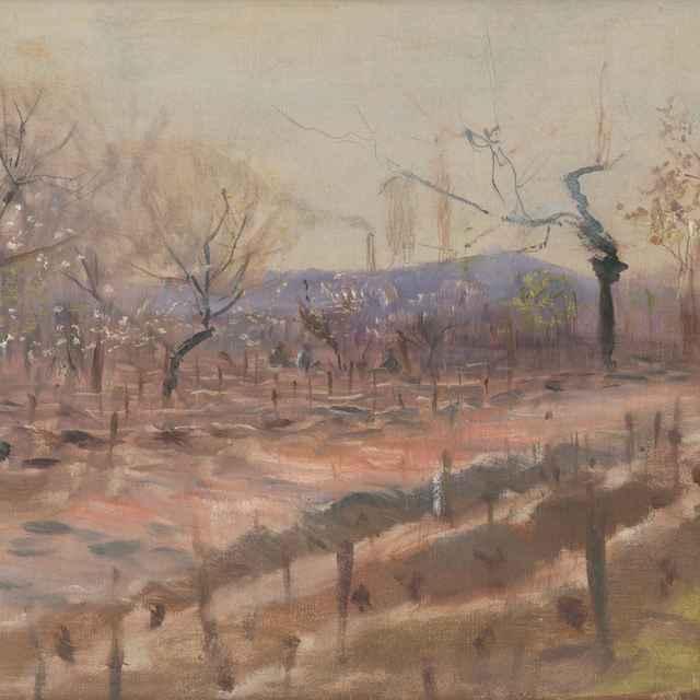 Jarná krajina (Jar v ovocnom sade) - Mednyánszky, Ladislav