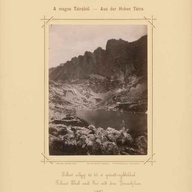 Velická dolina a Velické pleso s granátovými skalami - Divald, Karol