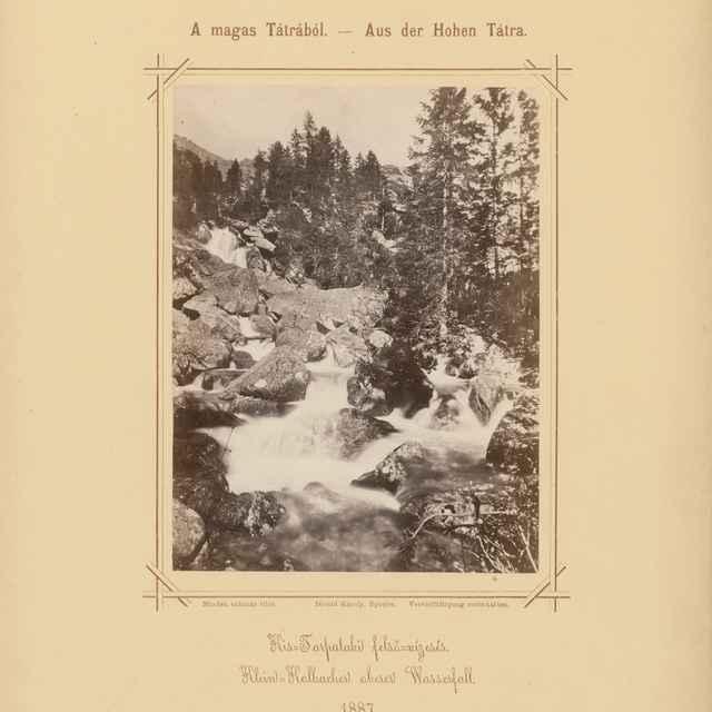 Horný vodopád na Malom Studenom potoku - Divald, Karol