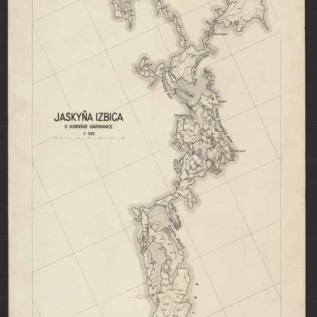 Harmanecká jaskyňa (mapa) - Ladislav Jurák
