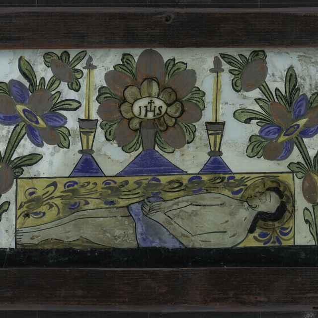 Maľba na skle-Boží hrob - neznámy (osobné meno)