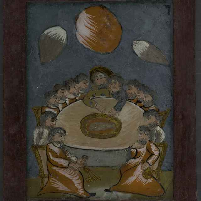 Maľba na skle-Posledná večera - neznámy (osobné meno)