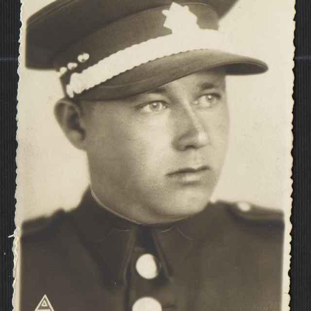 Fotografia vojenská, portrét - neznámy (osobné meno)