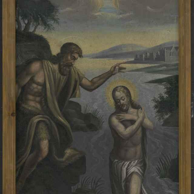 Maľba-Krst Krista - neznámy (osobné meno)