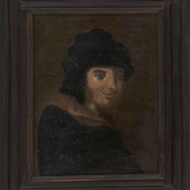 """Obraz, olej na plátne, """"Portrét muža v čiernom"""""""