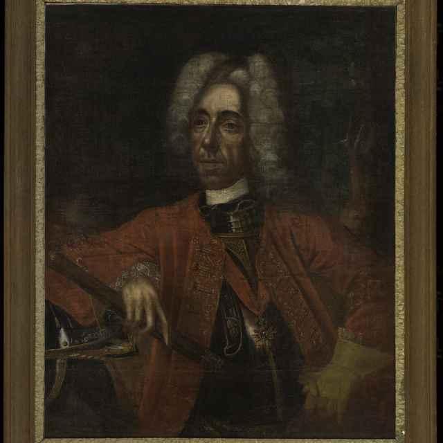 """Obraz, olej na plátne, """"Podobizeň princa Eugena Savojského"""""""