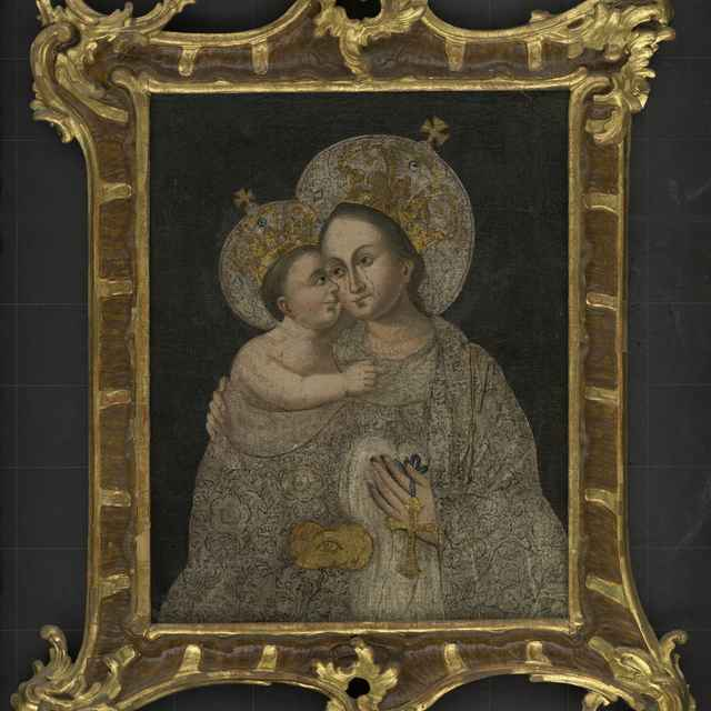 Olejomaľba - Panna Mária s Ježiškom