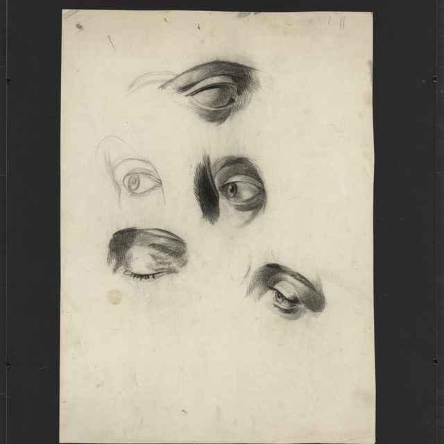 Ceruzokresba, Dionýz Andrássy: Štúdia očí - Andrássy, Dionýz