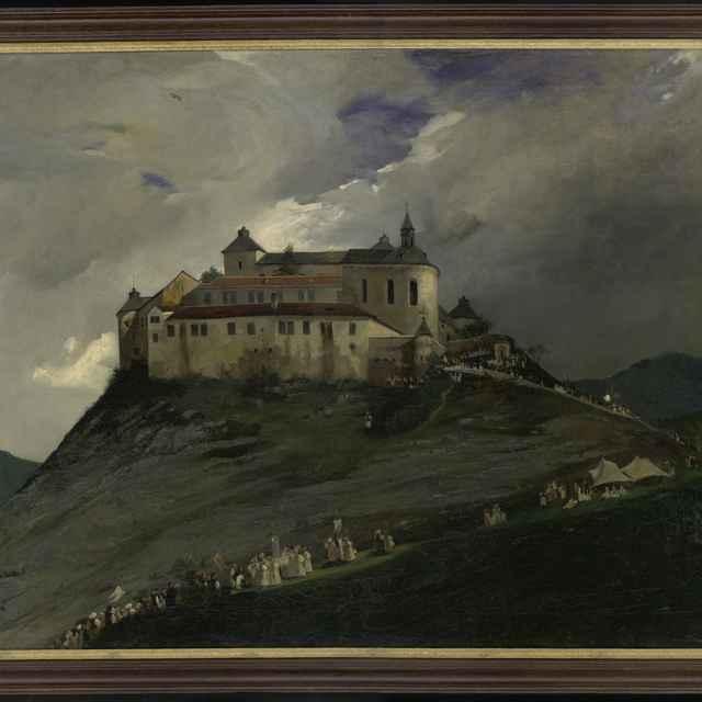 """Obraz, olej na plátne, """"Procesia na hrad Krásna Hôrka"""""""