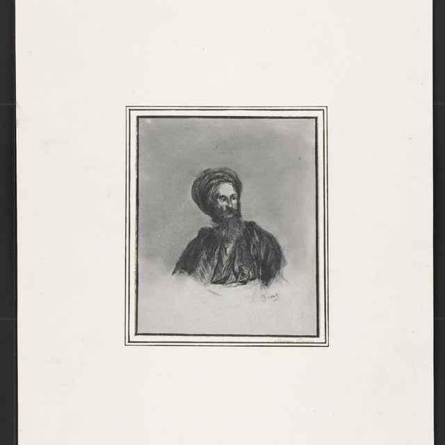 Ceruzokresba, Dionýz Andrássy: Muž s turbanom - Andrássy, Dionýz