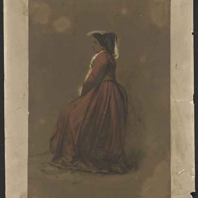 Akvarel, Španielka, 1856 - Andrássy, Dionýz