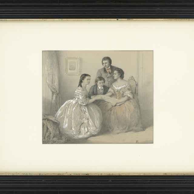Ceruzokresba, Gróf Dionýz Andrássy so súrodencami, 1860